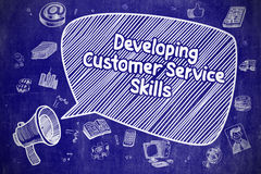 Developing Customer Service Skills - Business Concept. Stock Photos