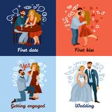 Developing Love Relations Concept Stock Images
