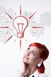 She is developing a new idea royalty free stock images