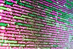 Developing programming and coding technologies. Information technology royalty free stock images