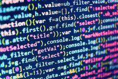 Developing programming. Script procedure creating. SEO optimization. Developing programming stock photo