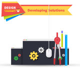 Developing Solution Design Flat Stock Photography