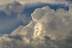 Developing Thunderhead Clouds Over The Adirondack Forest Preserv Royalty Free Stock Photography