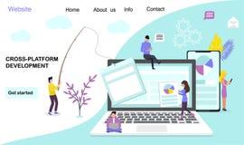 developmen da Cruz-plataforma ilustração royalty free
