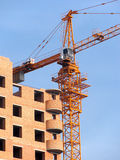 Development. Building crane on a development Royalty Free Stock Photography