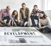 Development Blueprint Project Layout Concept Stock Images