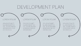 development business plan with four easy steps stock illustration