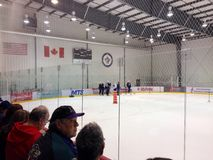 Development camp young players of Winnipeg Jets Stock Photography