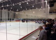 Development camp young players of Winnipeg Jets Royalty Free Stock Photo