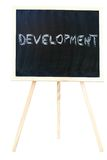 Development on a chalkboard Royalty Free Stock Image