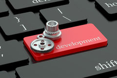 Development concept on keyboard button Stock Photos