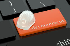 Development concept on keyboard button Royalty Free Stock Photo