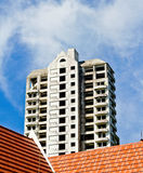 Development concept : under construction building on the roof of Royalty Free Stock Image