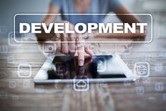 Development concept on virtual screen. Software. Personal. Development concept on virtual screen. Software. Personal Royalty Free Stock Images