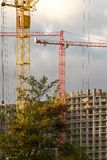 Development with crane Royalty Free Stock Photo