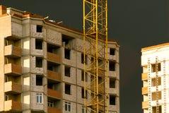 Development with crane Stock Image