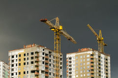 Development with crane Royalty Free Stock Photography