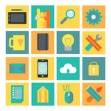 Development and design process icon set. Stock Photography