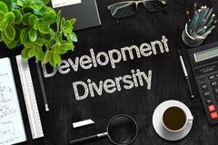 Development Diversity on Black Chalkboard. 3D Rendering. Royalty Free Stock Photos