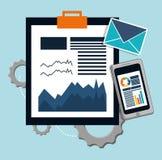 Development with document design. Development concept with icon design, vector illustration 10 eps graphic vector illustration