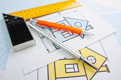 Development drawings Stock Image