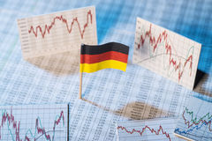 Development of the economy in Germany Royalty Free Stock Images