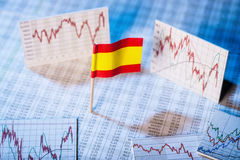Development of the economy in Spain Stock Images