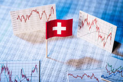 Development of the economy in Switzerland Stock Image