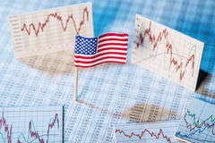 Development of the economy in the USA Royalty Free Stock Photo