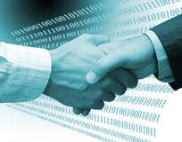 Development handshake Royalty Free Stock Image