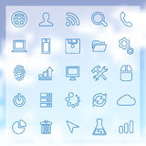 25 development icons set Stock Photos