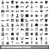 100 development icons set, simple style. 100 development icons set in simple style for any design vector illustration Royalty Free Stock Photos