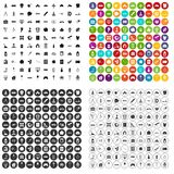 100 development icons set vector variant. 100 development icons set vector in 4 variant for any web design isolated on white Royalty Free Stock Images