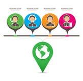 Development of information Digital Technology infographics Stock Images