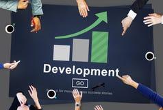 Development Management Business Solution Website Concept.  Royalty Free Stock Image