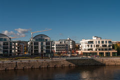 Development of Modern buildings in Magdeburg, Germany Stock Photos