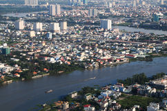 Development of modern city Stock Images