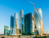 Development of Moscow-City Stock Image