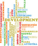 Development multilanguage wordcloud background concept Royalty Free Stock Images