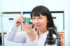 Development Of Electronic Micro Processor Royalty Free Stock Photo
