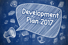 Development Plan 2017 - Business Concept. Royalty Free Stock Photo