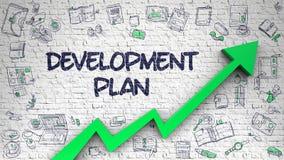Free Development Plan Drawn On Brick Wall. Royalty Free Stock Photo - 108698645