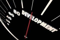 Development Programming Process System Progress Speedometer 3d I royalty free illustration