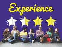 Development Ratings Improvement Vision Concept. Development Experience Ratings Improvement Vision stock image