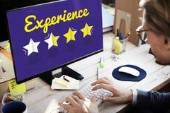 Development Ratings Improvement Vision Concept. Experience Ratings Improvement Vision Concept royalty free stock photos