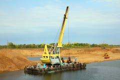 Development sandpit with dredge Stock Photos
