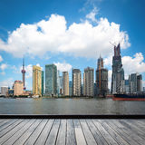 The development of shanghai skyline Royalty Free Stock Photos
