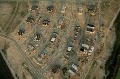 Development site 2730. Aerial shot of development site under construction Royalty Free Stock Photos