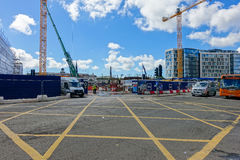Development on the site of the old bus station in Cardiff Stock Image
