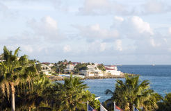 Development St. Maarten St. Martin Caribbean. Hotel villa development beach Simpson bay St. Maarten St. Martin Caribbean Island royalty free stock image